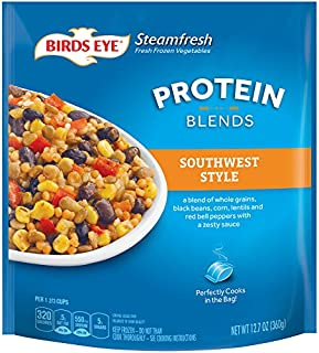 Birds Eye Steamfresh Protein Blends Frozen Sides, Southwest Style with whole grains, veggies and sauce in microwaveable bag, 12.7 ounces
