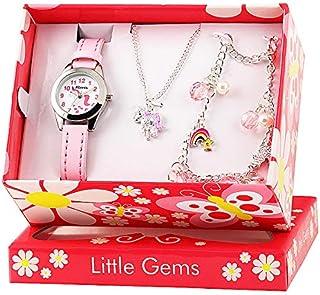 RAVEL Unicorn 'Little Gems' Quartz Watch and Silver Plated Jewellery Gift Set