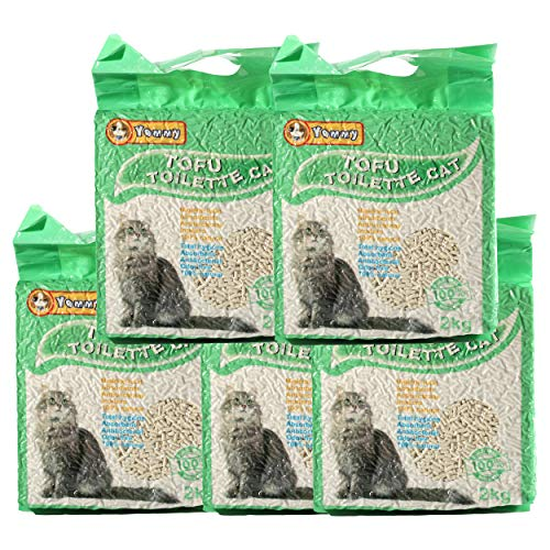 Arena para Gatos Vegetal y Aglomerante 100% Natural 3.8 litres- 2 Kg ( Pack de 5 Unidades)