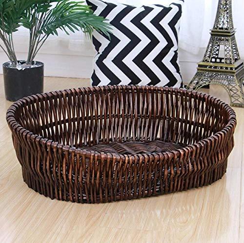 Kennelcat Nest Rattan Weave Wicker Woven Pet Nest 80X50 Cm 15