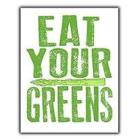 2個 あなたの緑を食べる金属錫サイン壁の装飾サインレトロな金属プラーク面白いギフト 30*20 CM