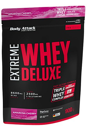 Body Attack Amarena Cherry Cream 900g Extreme Whey Deluxe by Body Attack