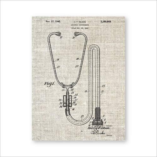 Stethoskop Wandkunst Medizinische Poster Arztpraxis Dekoration Komplexe Malerei Geschenk Wanddekoration A4 21x30cm