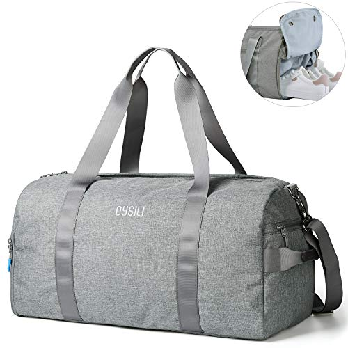 CoCoMall Gym Bag with Shoes Compartment and Wet Pocket, Sports Duffle Bag...