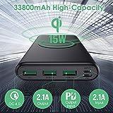Zoom IMG-1 power bank wireless 33800mah ricarica