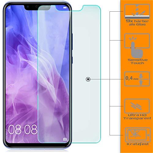 zanasta [3 Stück Displayschutz Folie kompatibel mit Huawei Huawei Nova 3 Displayschutzfolie Schutzglas Glasfolie Hartglas Schutzfolie | HD Klar Transparent - 2