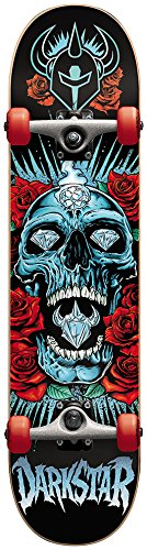 Darkstar-Skateboard Darkstar completo, motivo: rose, colore: rosso
