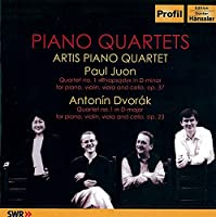 Dvork:Piano Quartet No.1/Juon: QurtetRhapsody for Piano, Violin, Viola and Cello