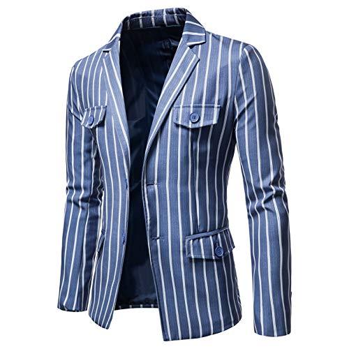 Mr.BaoLong&Miss.GO Men Large Size Suit Jacket Fashion Striped Two Button Single Suit Men British Tops Men Business Suits