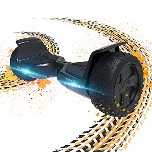 TOMOLOO Hoverboard Off Road with Bluetooth and LED Lights, 8.5   All Terrain Hoverboards for Kids and Adults with APP Control, UL2272 Certified Two-Wheels Electric Self Balancing Scooter Hover Board