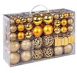 ilauke Palle di Natale 105 Accessori Decorativi per L'Albero di Natale 2CM/ 4CM/ 6CM Plastica Palla di Natale Ornamenti per Dell'Albero per la Decorazione