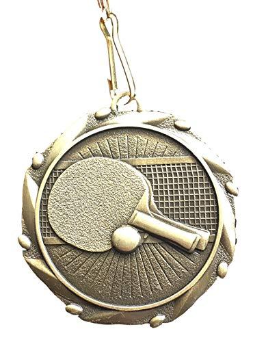Emblems-Gifts Medalla Personalizada con diseño de Ping-Pong con Lazo