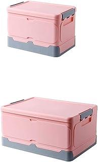 Onlyup Lot de 2 paniers de rangement pliables avec couvercle - Boîtes de rangement empilables pour jouets, vêtements, livr...