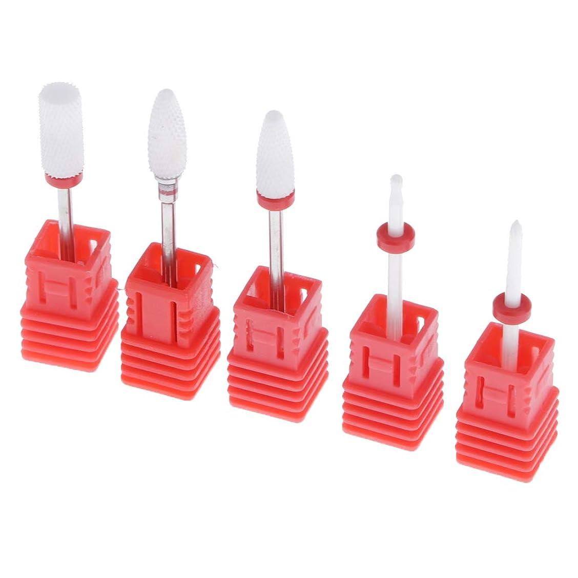 消費フロントチェスをするPerfeclan 陶磁器ドリルビット ネイルドリルビット ロータリーファイル 研削ネイル 切削工具 耐摩耗性 5個入