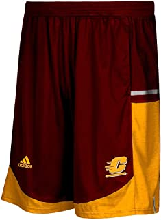 adidas Central Michigan Chippewas NCAA Mens Maroon Climalite Modern Varsity Basketball Shorts