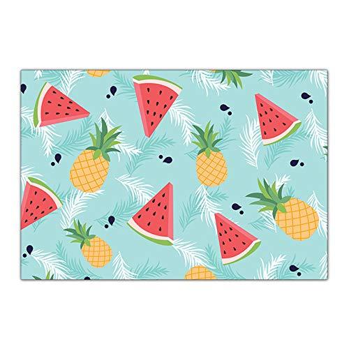 SDFJKOFresh Watermelon Style Home Rug Summer Carpets For Family Adornment Bedroom Non-Slip Floor Mat Kitchen,STC005,6,120x160cm