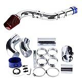 VerRich Filtro de aire para automóvil Kit de inducción de tubería de aluminio de admisión de aire frío universal de 76 mm, 3'