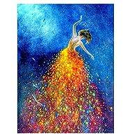 CANDYL DIYペイント ナンバービューティーガール ペイントキット 子供 大人 学生 初心者 キャンバスペイント アクリル油絵 アートクラフト ホームウォールデコレーション 美しい女の子ダンサー 16x20インチ