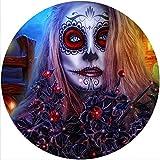 Slipmat - Tappetino antigraffio in feltro per qualsiasi giradischi LP DJ in vinile da 30,5 cm, grafica personalizzata – Halloween 3