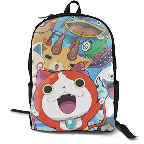 AOOEDM Backpack Yo-Kai Watch Cool 3D Printing School Mochila Mochilas de Libros para niño niña