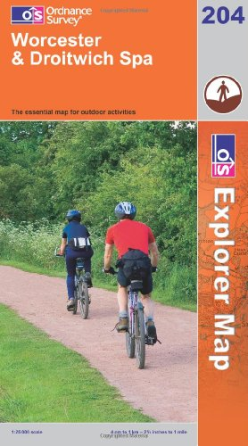 OS Explorer map 204 : Worcester & Droitwich Spa