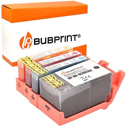 4 Bubprint Druckerpatronen kompatibel für HP 920 XL 920XL für OfficeJet 6000 6500 6500A Plus 7000 Special Edition 7500A Wireless Schwarz Cyan Magenta Gelb Multipack