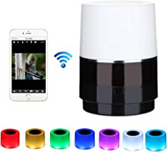 Hidden Camera Light - Spy Camera 160° Lens Rotate Left/Right WiFi 1080P HD Night Vision Wireless Mini Camera Video Recorder Motion Detection Remote Real Time View Video Nanny Cam