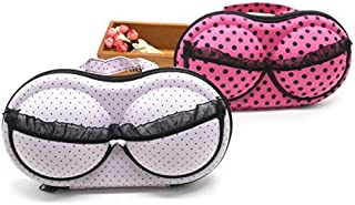 June Fox 2Pcs Travel Home Organizer Zip Bag Case Bra Underwear Lingerie Case Storage Bag