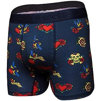Mens Boxer Briefs-Premium Underwear for Men Tattoo Briefs-Gift Box-Medium
