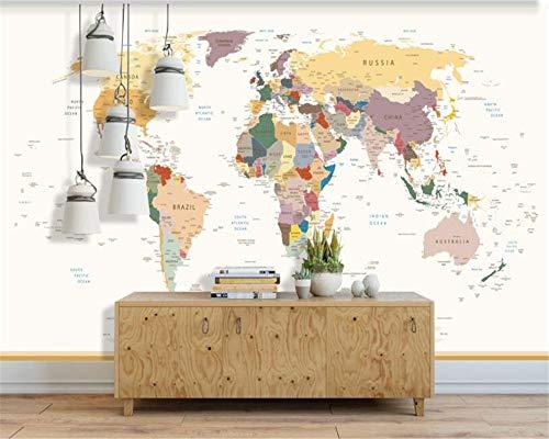 Fototapete Tapete Benutzerdefinierte Wallpaper Ultra Hd Weltkarte Wohnzimmer Sofa Hintergrund Dekorative Wand 3D Malerei Tapete, 350 * 245 Cm