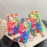 LXIAOWEI Caja del teléfono del Bloque de Arco Iris (3 PCS) para iPhone XR, Cubierta de Silicona, Estuche Protector Innovador, Accesorios de teléfono Suave, niña