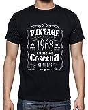 latostadora - Camiseta la Mejor Cosecha 1968 para Hombre Negro L