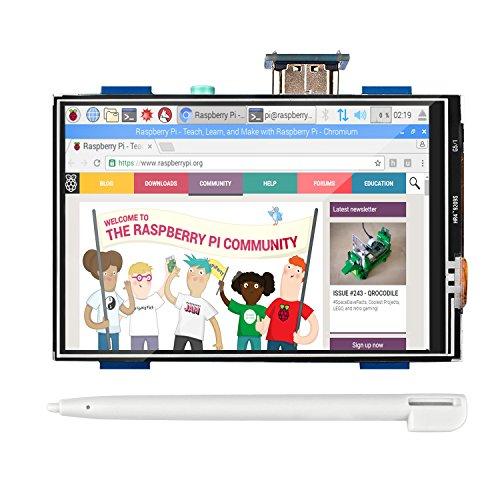 Smraza 3,5 Pulgadas TFT de Pantalla Táctil 1920 * 1080 Pantalla LCD Monitor es Compatible con Raspberry PI 3 2 Modelo b/b+, Película Reproducción de vídeo y, juego de arcada, entrada de audio HDMI