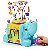 TOP BRIGHT Activity Cube Toys for 1 Year Old - Toddlers Wooden Bead Maze Toy Set Baby Cute Pre-Kindergarten Gift