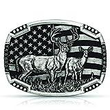 Montana Silversmiths Matched Pair Deer Buckle