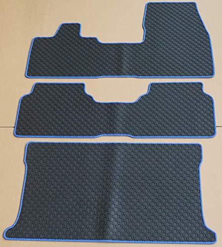 Thomatex 31030-1483+K1772 KL A6+C-E6 Gummimatten + Kofferraum, Rand Kunstleder blau, passend für I3