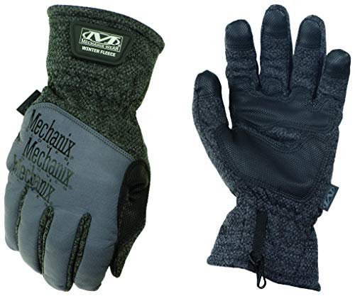 Mechanix Wear Winter Fleece Warm isolierte Handschuhe (XX-Large, Schwarz/Grau)
