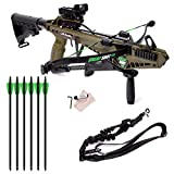 Cold Steel Cheap Shot 130 Tactical Crossbow Package - Includes 6 Crossbow Bolts and Red Dot Sight