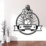 supmsds Rugby Fußball Vinyl Wandaufkleber Tapete Dekoration Zubehör Für Haus Dekoration Wandbild...