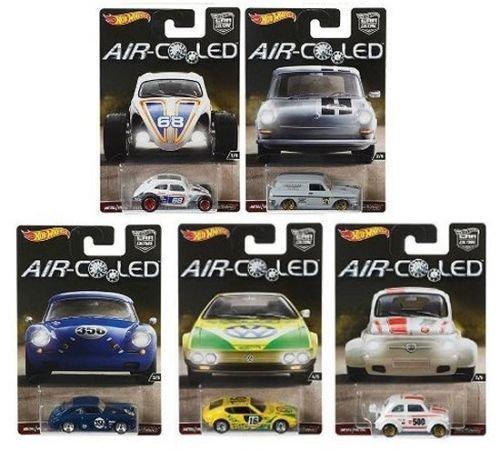 Hot Wheels New 1:64 CAR Culture AIR-Cooled CASE H Assortment Set Diecast Model Car Set of 5 Cars