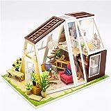 Casa De Muñecas Hecha A Mano En Miniatura, Kit De Modelo De Casa Miniatura Hecho A Mano De Madera DIY para Adolescentes Y Adultos con Regalos De Juguete Autoensamblados