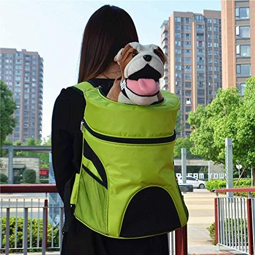 ZXL Sportrugzak voor huisdieren, draagbaar, voor honden en katten, met dubbele schouderriem