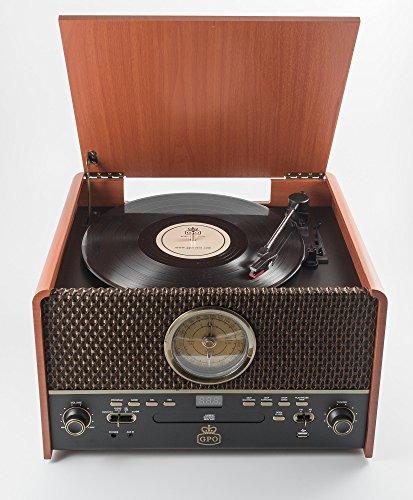 GPO Retro Chesterton Madera - Tocadiscos (Madera, 33,45,78 RPM, 33 ...