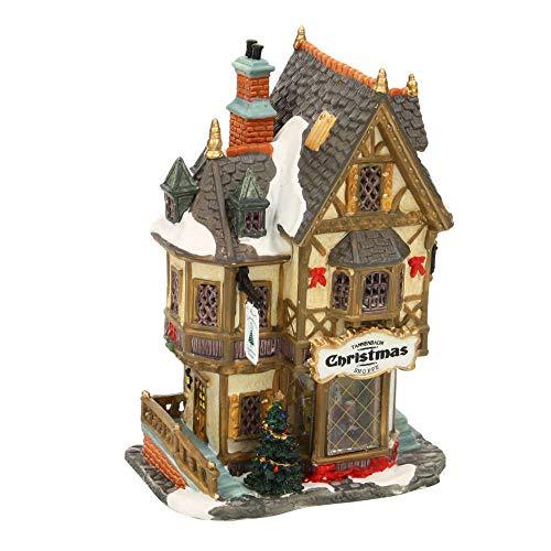Lemax Porcelain Lighted House Village Tannenbaum Christmas Shoppe 11.5' H X 7.2'