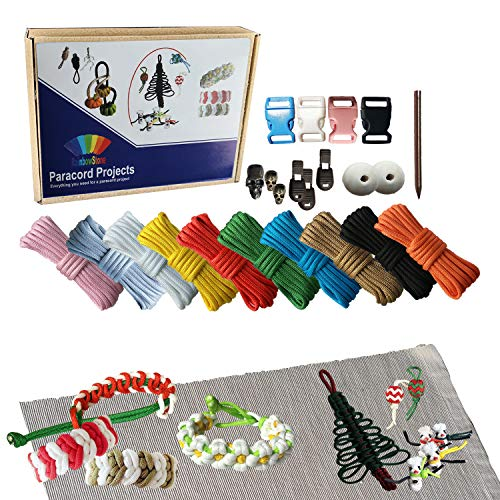 RainbowStone Paracord Armband DIY Projekt Kit - 24-TLG. Set A