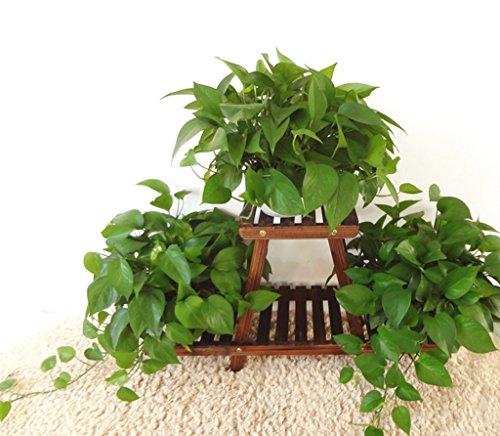 huaji huapen Support de fleur en bois massif, support de fleur de bois balcon, support de fleur d'installation au sol, support de fleur en bois massif multicouche support de fleur en bois support de