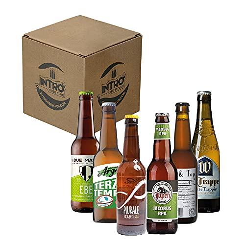 """INTRO BEER CLUB Box Degustazione Birre Artigianali - Selezione di Birre dal Mondo""""Olanda vs Italia"""" - Kit con 6 Bottiglie da 33cl - Confezione Idea Regalo Uomo"""