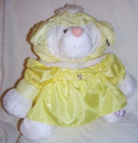 Vintage 1986 Puffalumps 15' Yellow Lamb Puffalump with Yellow Removeable Dress