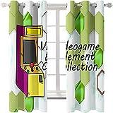 Cortinas Impresas En 3D De Dibujos Animados Modernos Aislamiento Térmico Simple Sombreado Ventanas Mirador Perforadas Fáciles De Instalar Adecuadas para Dormitorio Hotel Balcón