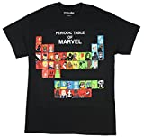 Marvel Periodic Table Adult T-Shirt - Black (XXXX-Large)